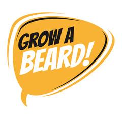 grow a beard retro speech balloon