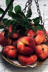 Prunus persica var. platycarpa Paraguayo فاكهة Saturn كعب الغزال platicarpa Peach אפרסק פיתה Pesca tabacchiera  バントウ 蟠桃 Piatta