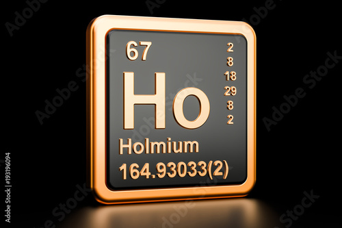 Holmium Ho Chemical Element Sign 3d Rendering Stock Photo And