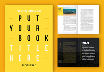 Book Layout with Yellow Accents