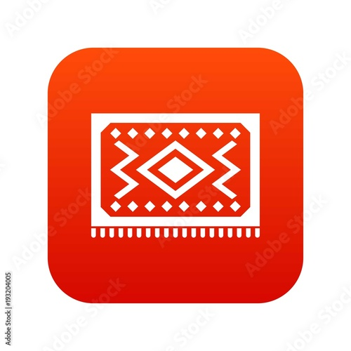 Turkish Carpet Icon Digital Red