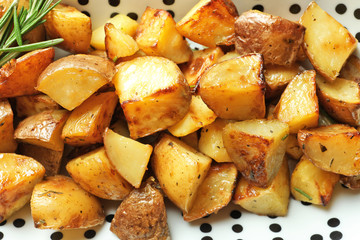 Tasty potato wedges, closeup