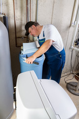 Experienced home installer with water softener