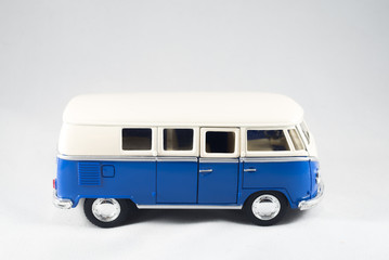 A mini bus against a white background