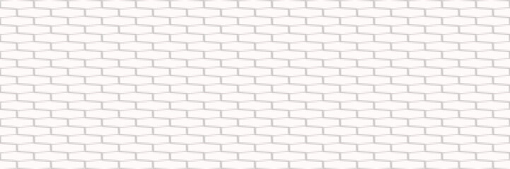 Wall Mural - horizontal white brick wall for pattern and background,vector illustration
