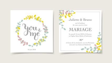 Faire-part invitation mariage