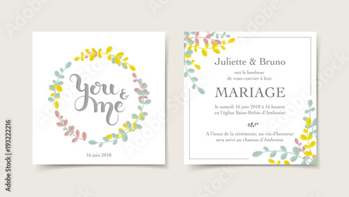 Faire Part Invitation Mariage Stock Image And Royalty Free Vector