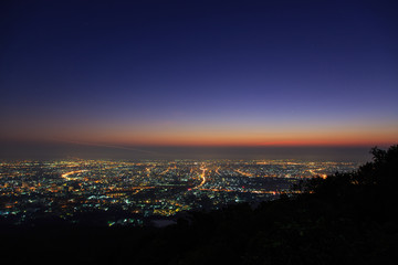 View point of Chiang mai city in the morning from Doi suthep, Chiang mai, Thailand