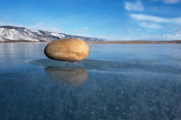 Hovering (soaring) stone or stone on ice leg