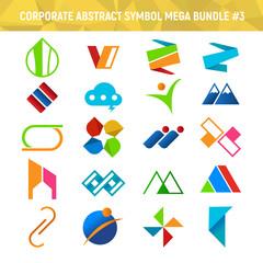 Corporate Abstract Symbol Mega Bundle Pack Design 3