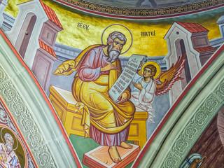 Interior of Putna monastery, Bucovina, Romania
