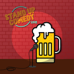 stand up comedy beer theme