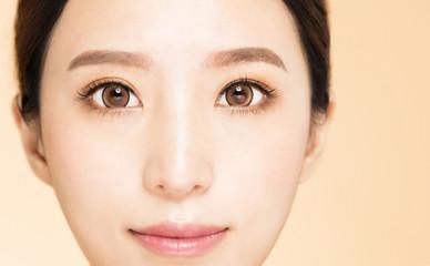closeup young Beautiful Woman Eye