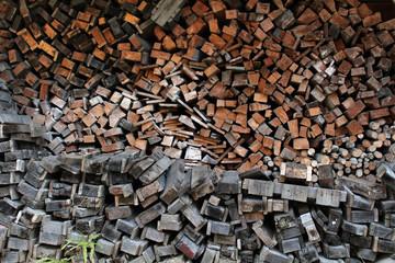 Stacks of raw Japanese woods