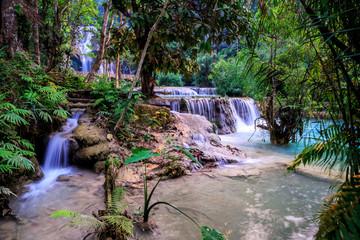 waterfall Luang Pra Bang laos Tat kuang si