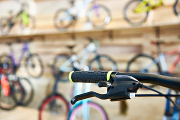 Bicycle handlebar in sports shop