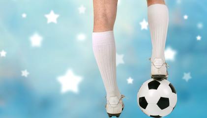 Wall Mural - Fußball - Spieler mit Ball