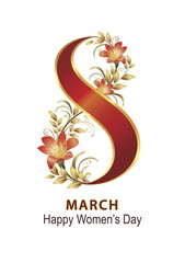 March 8 women's day background