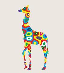 Colorfully Giraffe, art vector design