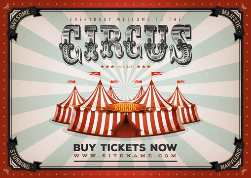 Vintage Circus Poster Background