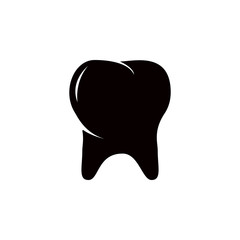 silhouette of a molar tooth icon. Detailed icon of parts of human organs icon. Premium quality graphic design. One of the collection icon for websites, web design, mobile app