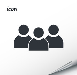 vector icon group of people on a wrapped silver sheet
