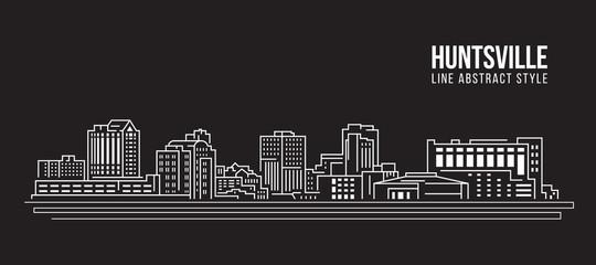 Cityscape Building Line art Vector Illustration design - huntsville city