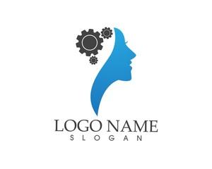 Brain woman Logo Template
