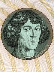 Nicolaus Copernicus portrait from Polish money