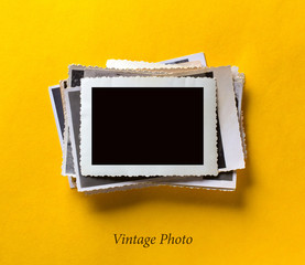 Vintage photo retro style frame