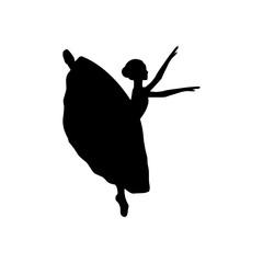 Girl ballerina silhouette dance ballet