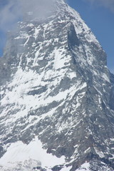 The Matterhorn is a mountain of the Alps