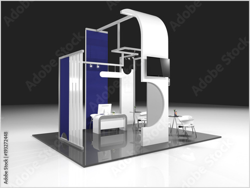 Exhibition Stand Design Tool : Exhibition stand modern design used for mock ups and branding and