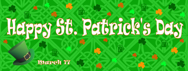 Happy Saint Patrick's Day march 17