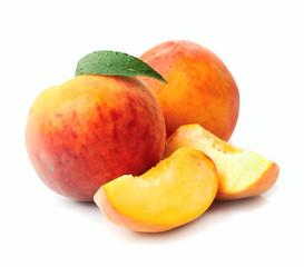 Sweet peach fruits.