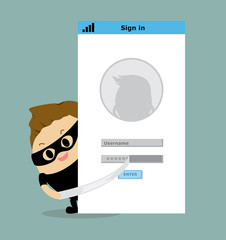 Vector of Thief steal login password