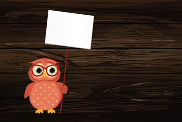 Lovely multicolored owlet keep empty pages and blank for your text