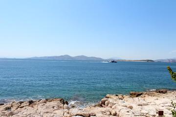 Saronic Gulf view in Piraeus, Greece