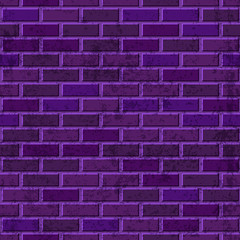 Vector purple brick wall seamless texture. Abstract architecture and loft interior violet background