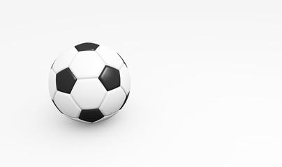 Fußball auf weißem Hintergrund