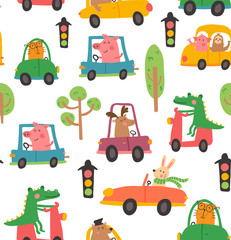 animal car pattern