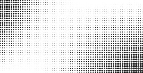 Halftone effect vector background
