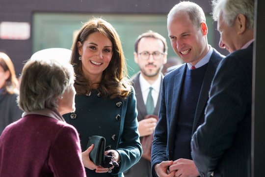 Britain's Prince William and Catherine Duchess of Cambridge visit The Fire Station, a newly converted music and arts club, in Sunderland