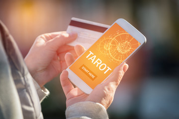 Tarot fortune telling application and credit card