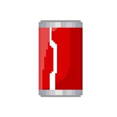 soda pixel art icon drink