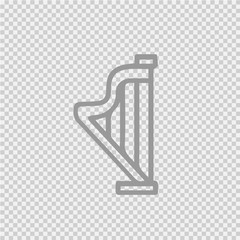 Harp vectoricon eps 10. Music instrument simple isolated illustration.