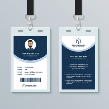 Id Badge Template Photos Royalty Free Images Graphics Vectors Videos Adobe Stock