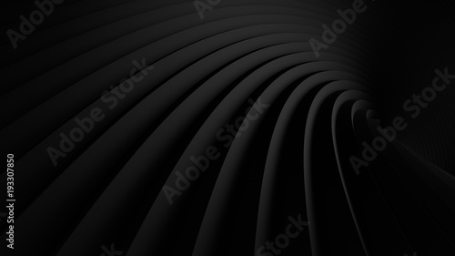 Fototapete abstract Illustration. luxurious black line background