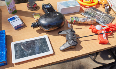 Disguised under toys and gadgets, explosives controlled by phone