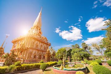 Wat Chaitharam or Wat Chalong famous landmark in Phuket thailand